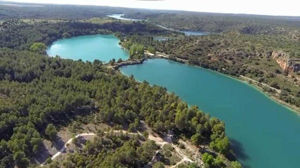 Lagunas de Ruidera foto aérea